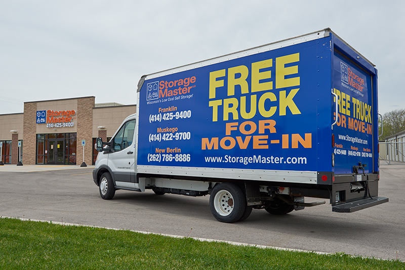 free truck rental with storage unit